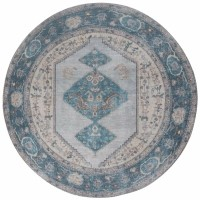 Vloerkleed Karaca Blue 03 Rond ø200 cm