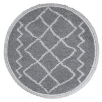 Vloerkleed Marrakesh Grey Rond ø200 cm
