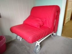 Uitklapbare IKEA stoel/stretcher