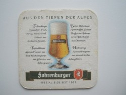 1 bierviltje Fohrenburger