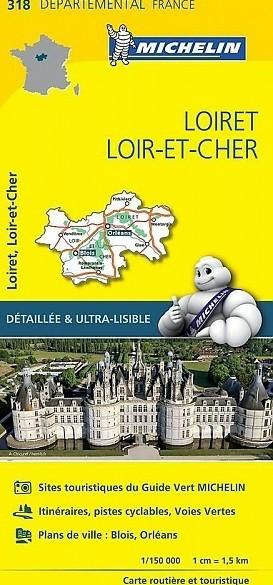 Fietskaart - Wegenkaart - Landkaart 318 Loiret Loire et Che…