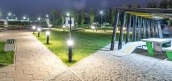 900mm ronde bolder paal met LED verlicht park & parkeerplaa…