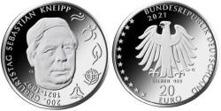 Duitsland 20 Euro 2021 Sebastian Kneipp