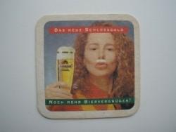 1 bierviltje Schlossgold