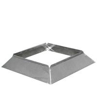 Aluminium instort stormkraag 150x150 mm
