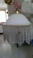 Antieke katrol hanglamp