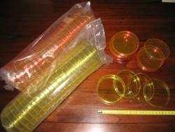 plastic gekleurde petrischalen