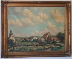 DE KOOG Olieverf op doek 90 x 67 cm.