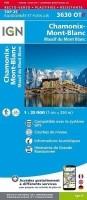 Wandelkaart 3630OTR Chamonix / Massif du Mont Blanc Geplast…