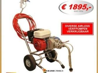 Airless benzine verfspuitmachine verfpomp 4,5L/min