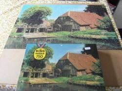 750 stukjes King puzzel huis met waterrad