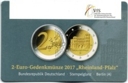 Duitsland 2 Euro 2017 Coincard Rheinland Pfalz Berlijn A