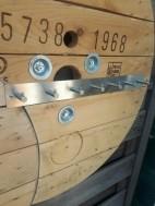 Industriële spiegel met kapstok