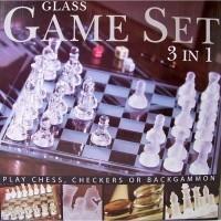 Glazen spellenset (3-in-1)