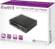 Eminent 3.5'' Internal Cardreader geheugenkaartlezer USB 2.…