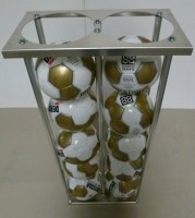 Ballenwagen lichtgewicht aluminiumInhoud: 20 ballen, Wiels…