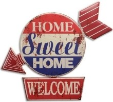 Retro metal signs wall decoratie: Home sweet Home NV32