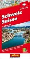 Wegenkaart - Landkaart Zwitserland 2021 Hallwag Road Map