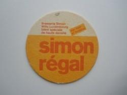 1 bierviltje Simon Regal