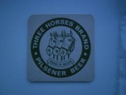 1 bierviltje - Three Horses