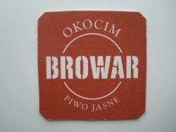1 bierviltje Okocim Browar