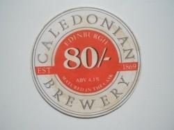 1 bierviltje Caledonian