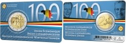 België 2 Euro 2021 'BLEU' Coincard Frans