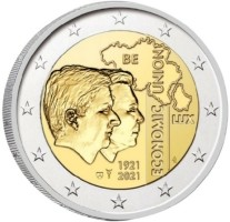 België 2 Euro 2021 'BLEU' UNC