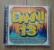De originele dubbel-CD DAMN! 13 100% Dancehits van Digidanc…