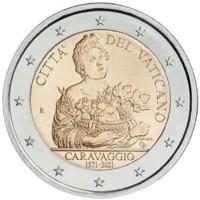 Vaticaan 2 Euro 2021 Caravaggio UNC