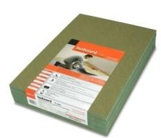 ondervloer [gebruikt] groen platen of alufoam