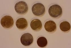 munten, euro, en ook 2 andere
