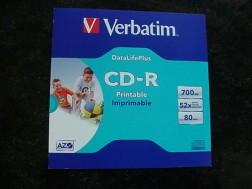 5 Nieuwe Verbatim printable cd-R's in cd-enveloppe's.