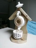 vogelhuisjes van theepotjes