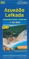 Wandelkaart 303 Lefkada   Road Editions