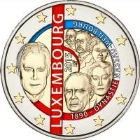 Luxemburg 2 Euro 2015 -125 Jaar Dynastie Nassau Weilburg ge…