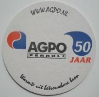 1 bierviltje - AGPO 50 jaar