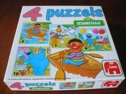 4 Sesamstraat puzzels.