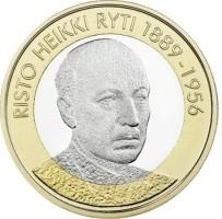 Finland 5 Euro 2017 Risto Ryti