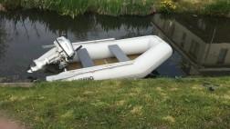 Rubberboot Brig met Honda motor 5pk 4 takt