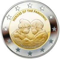 Malta 2 Euro 2021 'Helden van de Pandemie' UNC