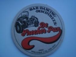 1 bierviltje - Discotheek De Sneeker Pan