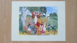 Mooie litho van Disney's Winnie de Pooh - Nieuw