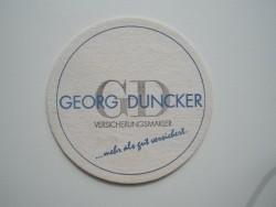 1 bierviltje - Georg Duncker