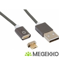 RealPower Magnetic M USB-kabel 1 m USB A Micro-USB B Mannel…