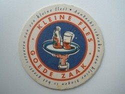 1 bierviltje - Kleine fles goede zaak