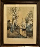 Oude Ets Gouda van Martin van Waning 1898/1972