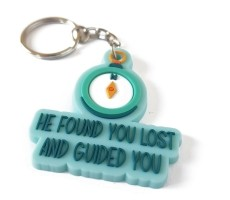 He found you lost and guided you sleutelhanger