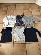 E 5 ZES kledingstukken 110-116