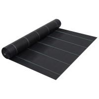 vidaXL Worteldoek 2x25 m PP zwart